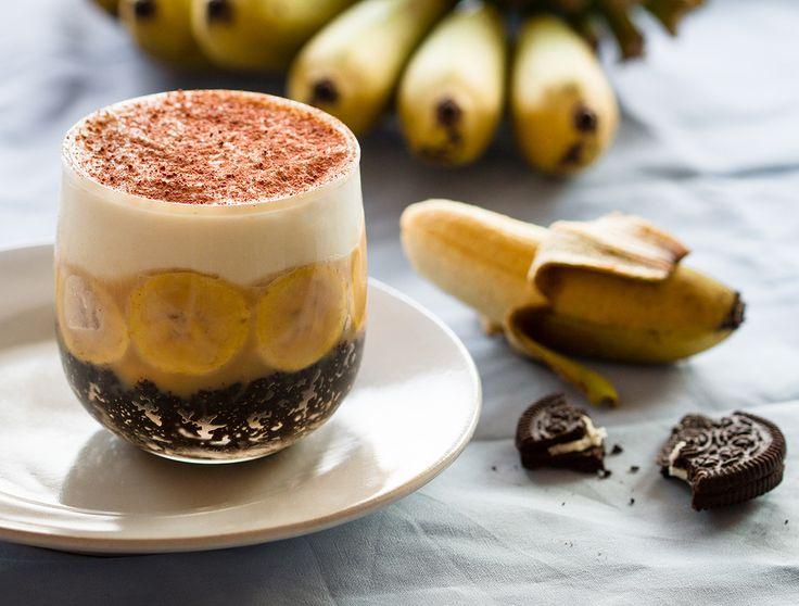 Banoffee aux Oreo sans cuisson Ici, au Royaume du Siam, le banoffee (ou banoffi ou banoffy) se retrouve très souvent à la carte des desserts des restaurants ou dans les pâtisseries et cafés de la...