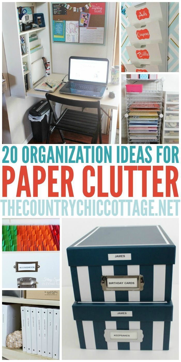 Organization Ideas For Paper Home Office