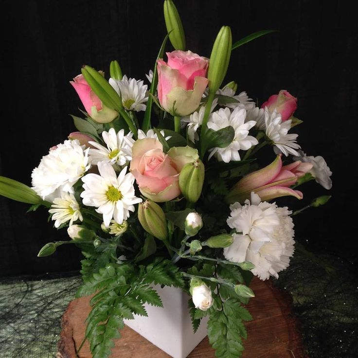 ceramic bowl mixed flower arrangement for all occasions. Order online. Adelaide deliveries