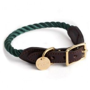 Found My Animal Rope Collar Hunter Green