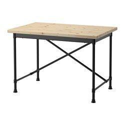KULLABERG Skrivbord, furu, svart - 110x70 cm - IKEA