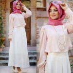 cute pastel hijab outfit
