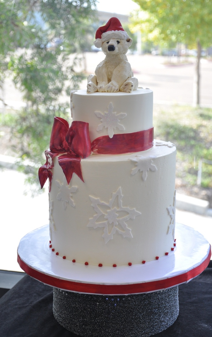 Beautiful Christmas Cake Wedding Cakes Pinterest