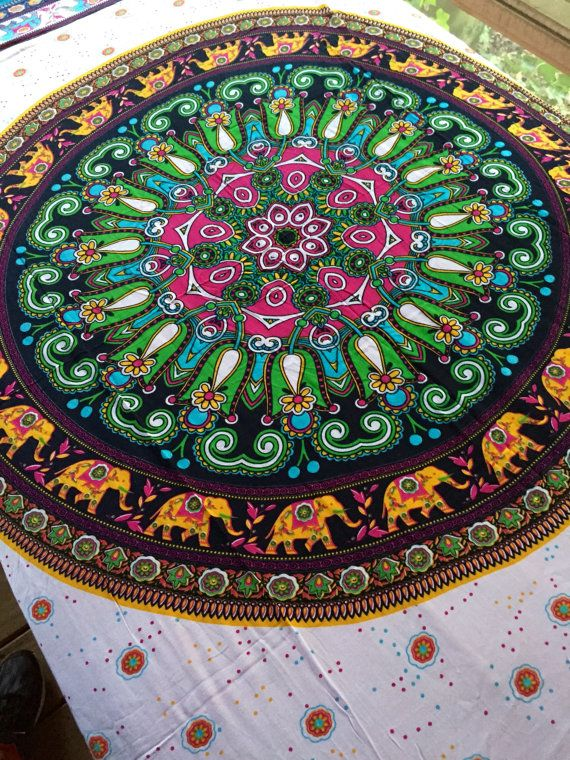 Bohemian+Hippie+Tapestry+Fabric++Elephant+by+SticksandStonesHemp1