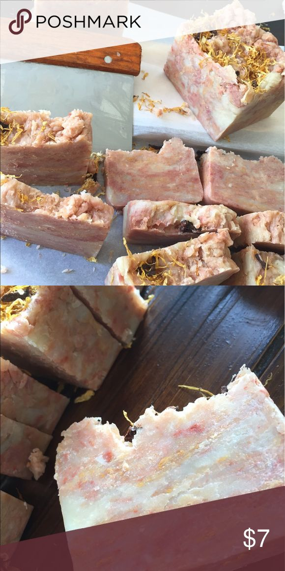 Ginger Snap Soap Handmade Artisan soap in Ginger Snap.  Beautiful marbled 4 oz bar.  Great gift or for your kitchen/bathroom soap dish! Garnished with Calendula flowers! Yummers Delight Other