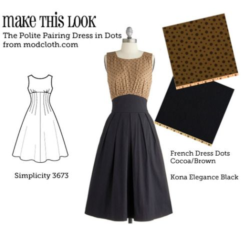 (via Make This Look: The Polite Pairing Dress - The Sew Weekly Sewing Blog & Vintage Fashion Community)