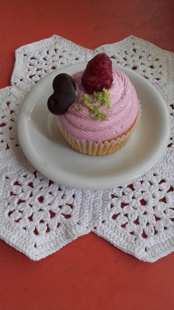 Málnáskrémes lime-os muffin