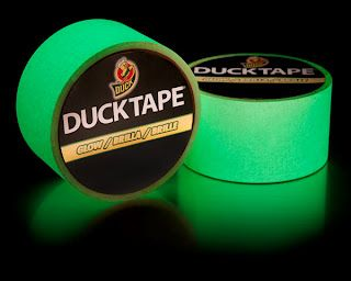Glow in the Dark Duck Tape - perfect for Halloween crafts, a stripe on kids jackets, pet callers, or just having some all round fun.