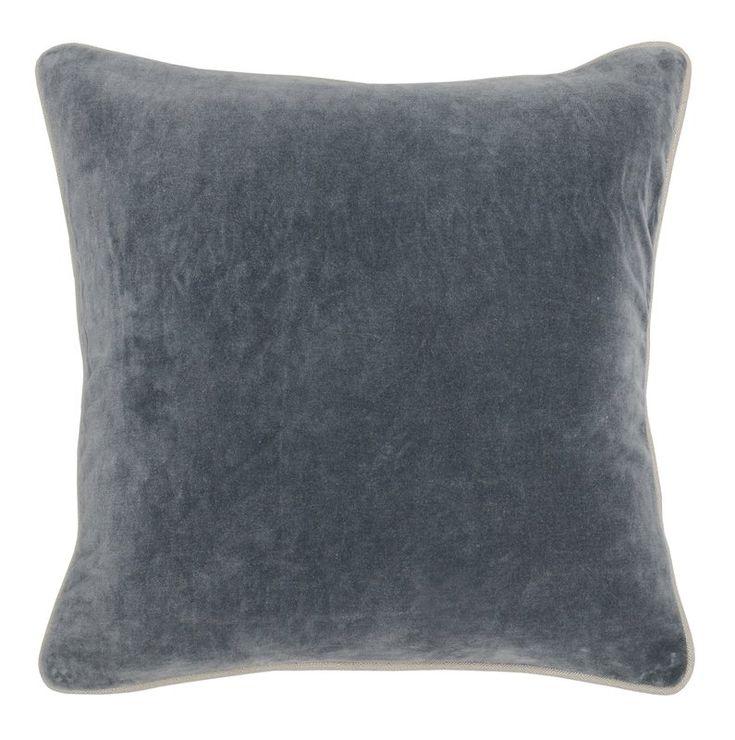 Vedika Cotton Throw Pillow Grey Throw Pillows Grey