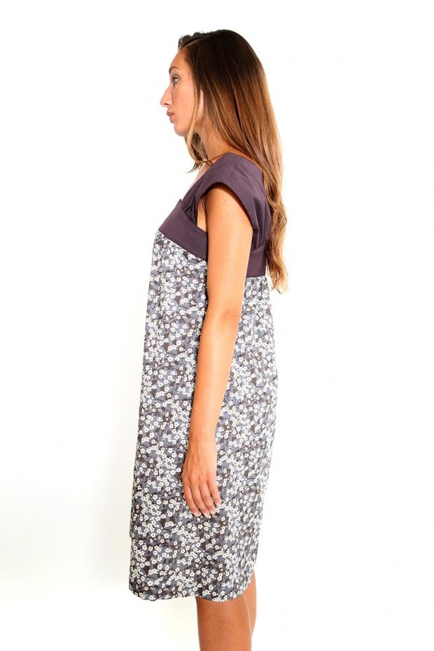 """This indian summer dress is made in a lovely liberty of london floral Tana Lawn art fabric. Liberty fabrics are of the highest quality and the originally designed floral pattern recalls """" the charm, colour, sound, scenery fragrance and beauty of the visible world."""""""