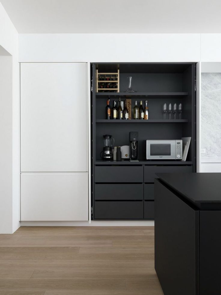 "As with many economical projects, the team turned to Ikea for its storage needs. ""The architects undertook the ultimate Ikea hack: measuring the standard size of the big-box retailer's shelving, and building closet spaces to fit to the centimetre – creating a custom millwork-level aesthetic for a fraction of the price,"" the studio said."