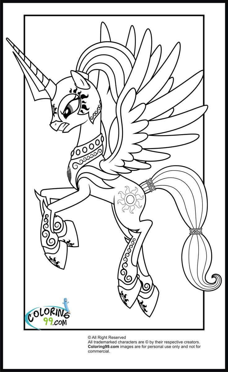 My little pony coloring pages youtube - My Little Pony Coloring Pages My Little Pony Princess Celestia Coloring Pages