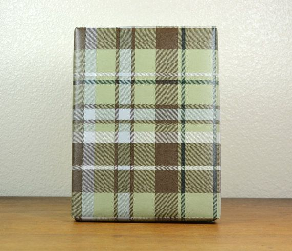 For Table Runners?   10 Feet SAGE And BROWN PLAID Kraft Wrapping Paper, 2