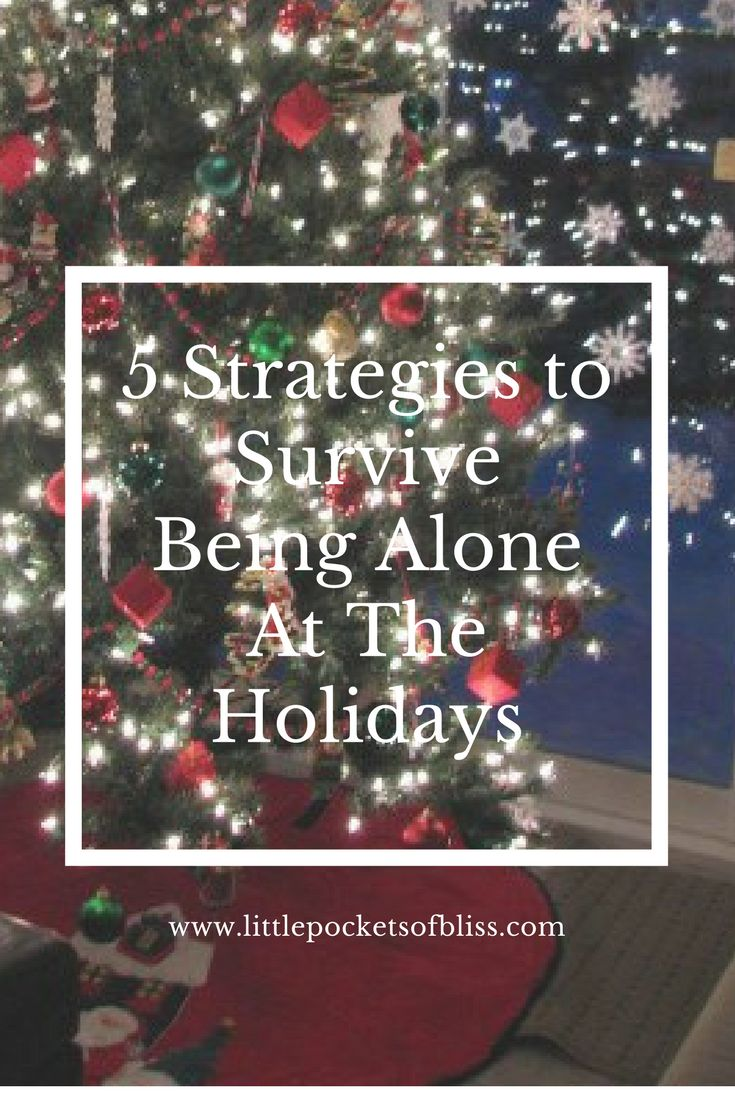 Kids are at their dad's for Christmas, and you are alone at the holidays?  Here's 5 strategies to help you cope!