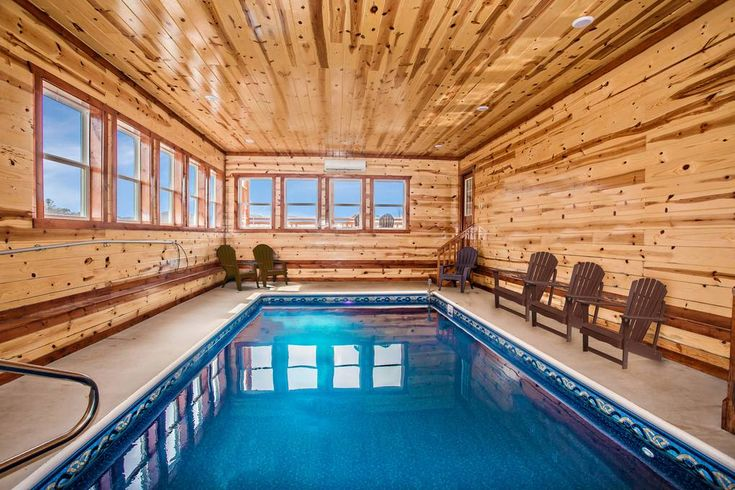 Poolside Cinema Lodge 6 Bedroom Cabin Rental Luxury Cabin Rental Hot Tub Outdoor Cabin
