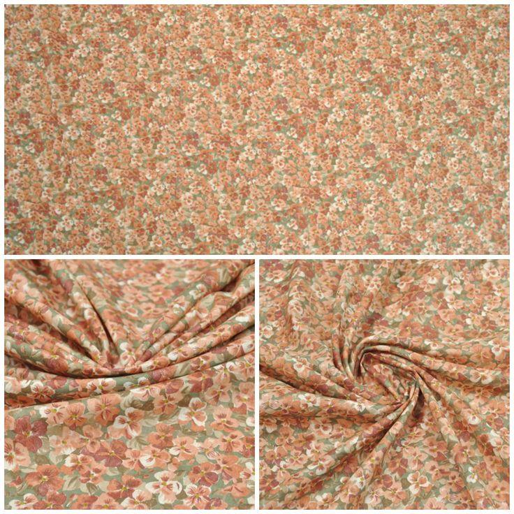 Блузочная ткань арт. 12-003-1829 Ширина: 142 см, плотность: 85г/м2 Состав ткани: 100% хлопок Цвет: Фон: т.оливковый Назначение: Блузки, платья, сарафаны #хлопок#блузочная#цветы#цветочный рисунок#tutti-tessuti