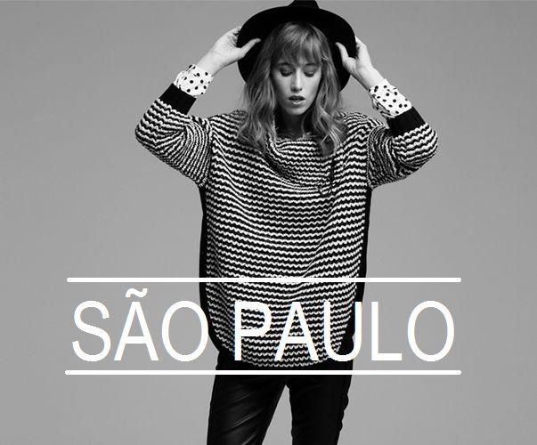 Stippen blouse met ruche, Grof gebreide zwart wit trui & Zwarte imitatieleren broek São Paulo #blouse #ruche #gebreide #trui #imitatieleren #broek #FW15 #kennedyfashion #saopaulofashion