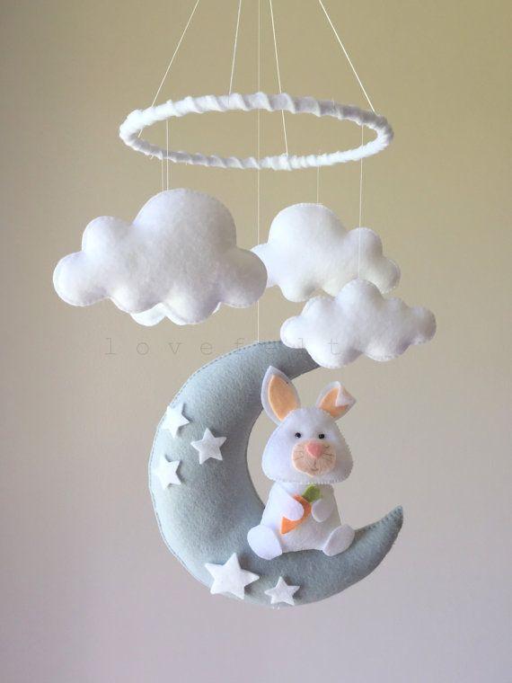 Baby mobile bunny mobile baby mobile bunny by lovefeltmobiles