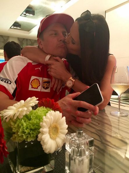 Kimi enjoyed his reward. via @minttuvirtanenofficial