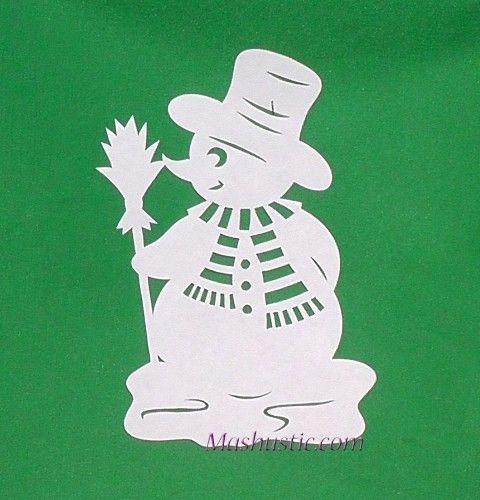 paper snowman pattern