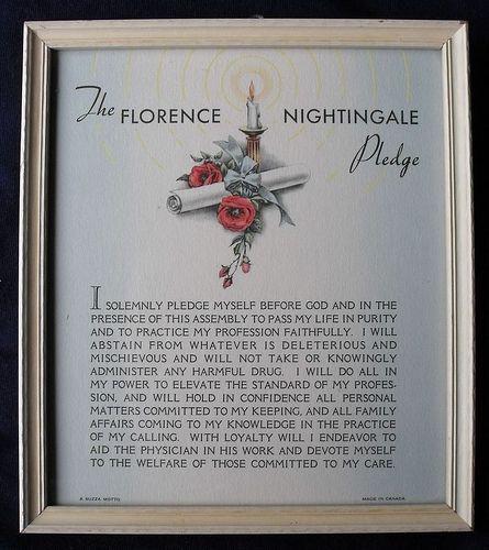 Florence Nightingale Nurse's Pledge.