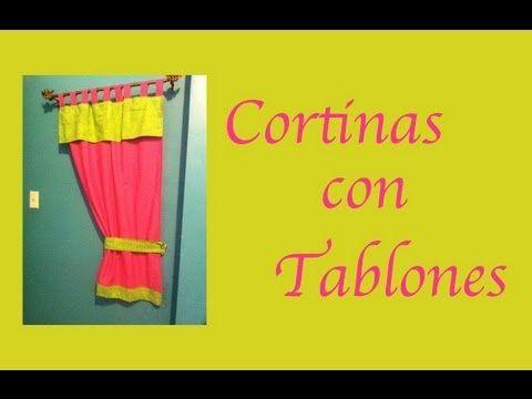 Como hacer una cortina con tablillas o presillas para la - Cortinas para ninos ...
