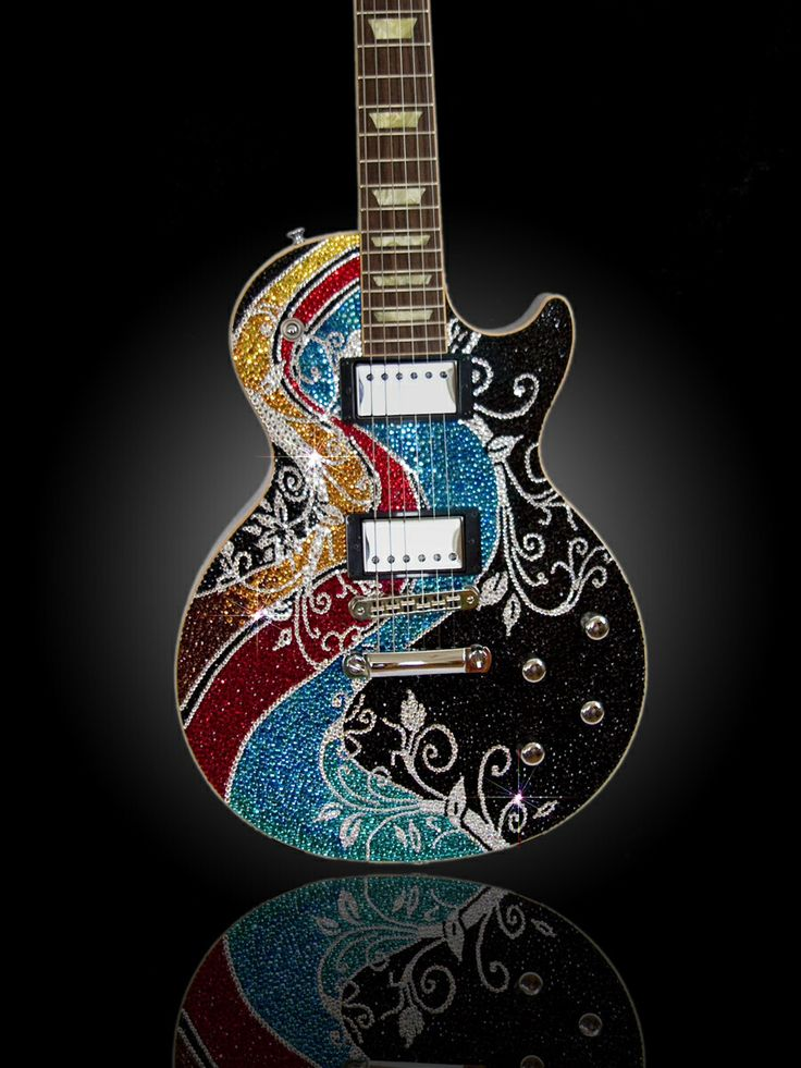 PRECIOUS REBELS Les Paul Fiesta by Amanda Dunbar, LLC & Precious Rebels Studios