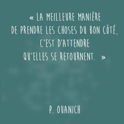 """#CitationDuJour : """"La meilleure manière de prendre les courses du bon côté, c'est d'attendre qu'elles se retournent """" P.Ovanich"""