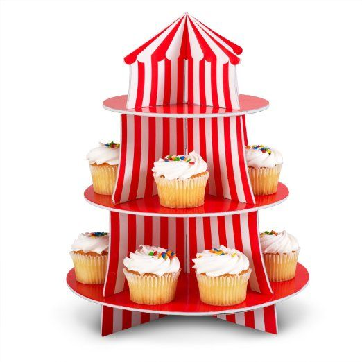 Amazon.com : Big Top Cupcake Holder Set Party Accessory : Childrens Party Supplies : Toys & Games