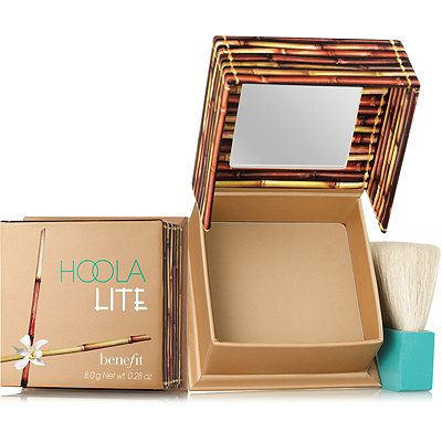 Benefit Cosmetics Hoola Lite Matte Bronzing Powder $29 :: Award-winning and best-selling Hoola Matte Bronzer is joined by a lighter shade! Perfect for fair complexions or for use as an all over finishing powder, Hoola Lite instantly warms your complexion leaving you with a healthy, believable glow 365 days a year. The finely milled matte bronzer blends on smoothly & seamlessly! ~ Soft-matte bronzing powder ~ Includes a natural, soft-bristle brush.