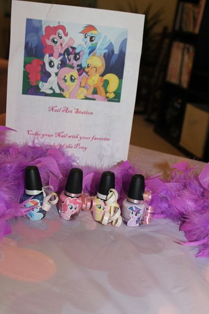My Little Pony Birthday Party Ideas   Photo 1 of 40   Catch My Party Like the stickers on the nail polish
