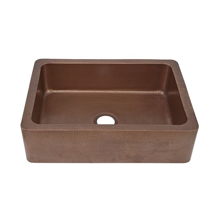 Update the heart of your home in rustic style with this copper-hued kitchen sink, perfect for rinsing dinner dishes and filling stockpots.