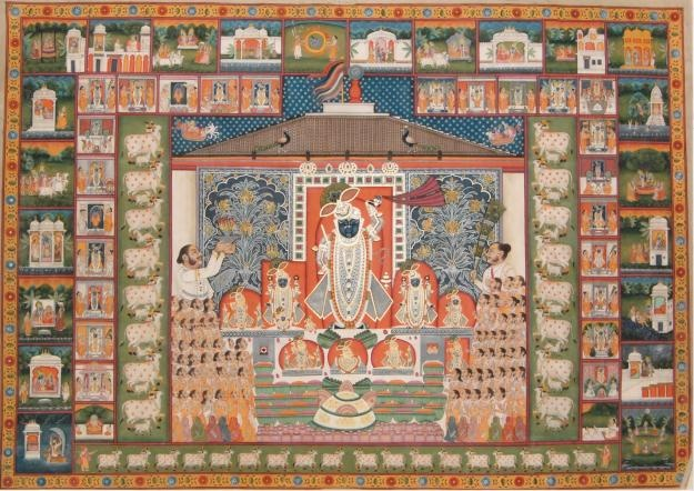 Pichwai Paintings from Rajasthan,  Hand painted paintings on textile