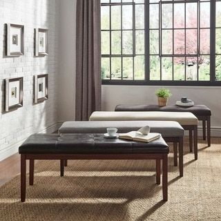 Shop for TRIBECCA HOME Hawthorne Rich Dark Brown Bench  Get free shipping  at Overstock. 61 best Home Furniture images on Pinterest   Dining rooms  Beach