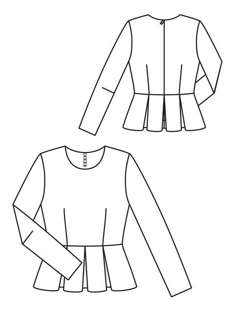 Pleated peplum top. Inspired to make something with this peplum by a DIY skirt made by Style Pantry!