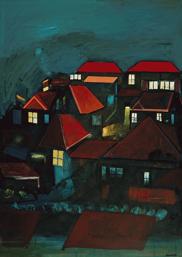 Bellevue Hill at Night (c. 1968) by Charles Blackman.