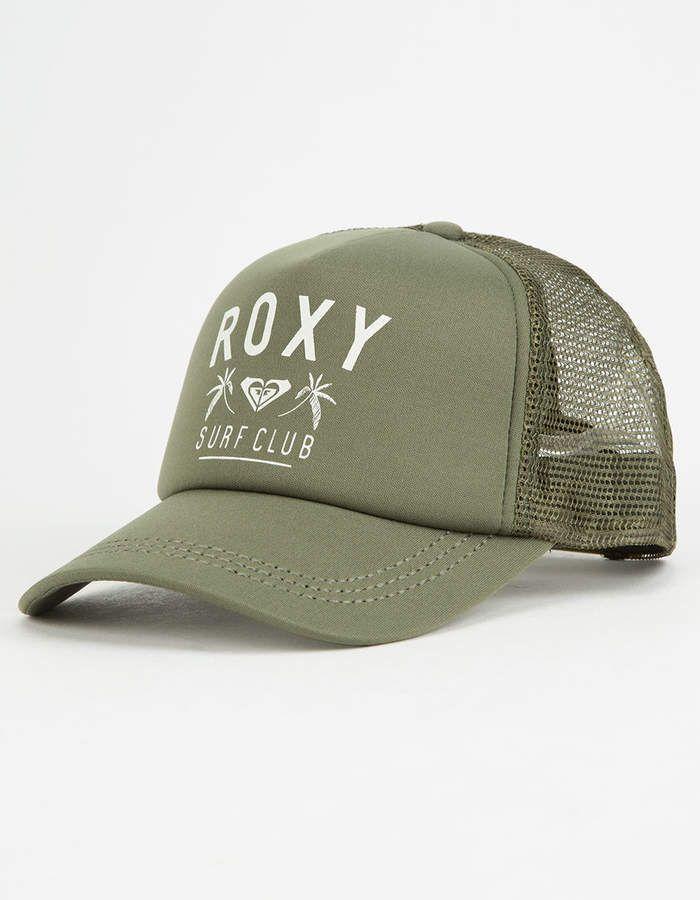 Roxy Truckin Olive Womens Trucker Hat  tillys  ad  hat  roxy  hatlife   truckerhat 4f626aa5054