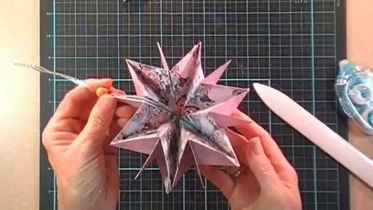 Such an easy card/ornament that explodes into a star when opened!