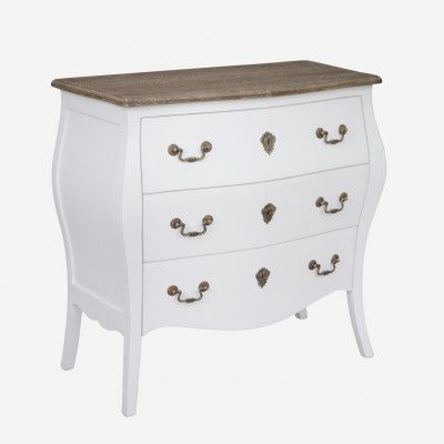 Redcurrent White Pauline Chest of 3 Drawers $795.00.