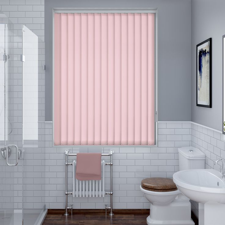 Splash Blush Vertical Blind - Made To Measure - Make My Blinds
