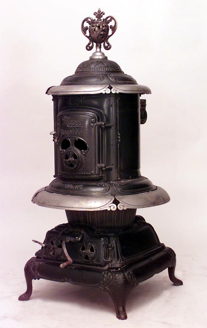 American Victorian Accessories Stove Wrought Iron Old