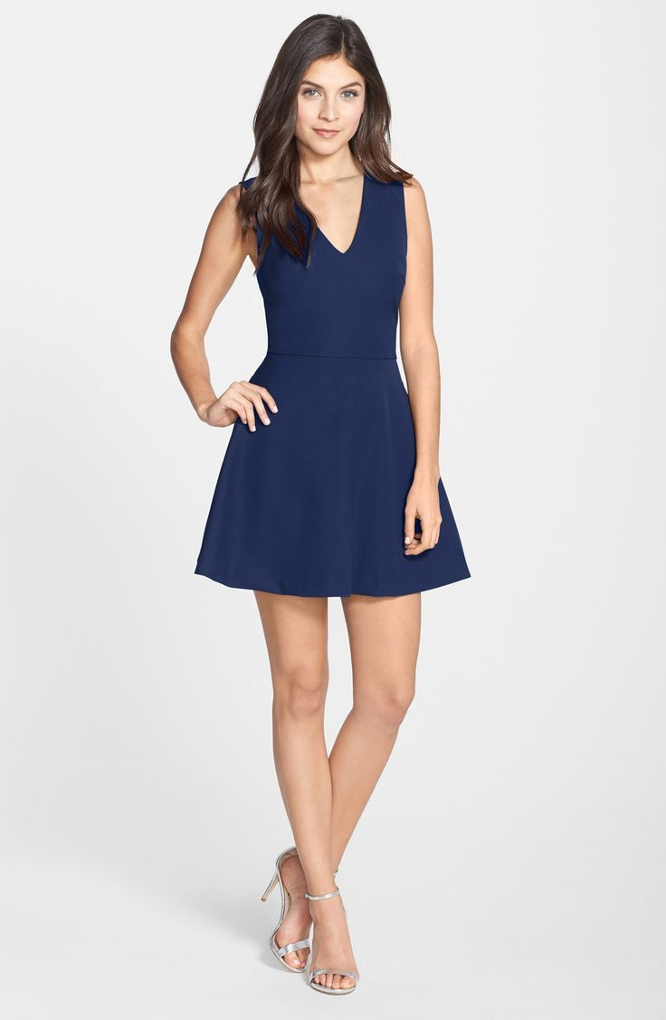 FELICITY & COCO Back Cutout Fit & Flare Dress (Nordstrom Exclusive)