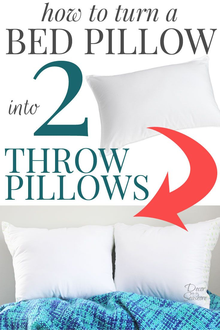 I had no idea it was so easy to turn a bed pillow into throw pillows! Throw pillows are so overpriced, and this easy tutorial shows you how to make TWO throw pillows for less than $10! What an amazing bargain! I am all about saving money with DIY home dec