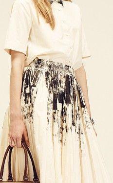 Bottega-Veneta-Resort-2014> mark makings to fabric #transform                                                                                                                                                                                 More