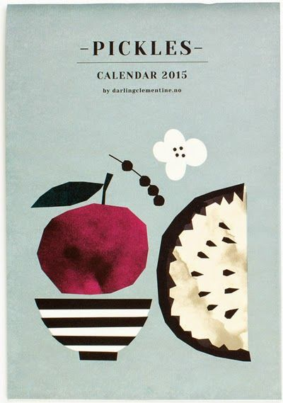 latest designs from Darling Clementine are now online at Artsy Modern. The 'Pickles' range features Tins, Tea Towels, Porcelain, and a 2015 calendar, all designed by the Norwegian design agency founded by Tonje Holand and Ingrid Reithaug.