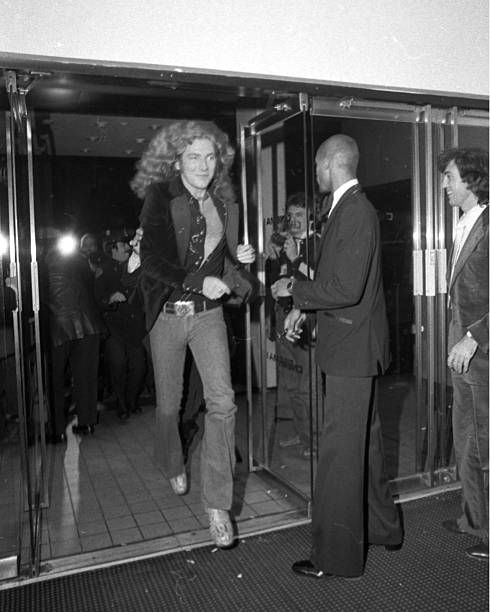 Led Zeppelin Rock Band at Cinema One Robert Plant who shattered his right ankle in an auto accident in August 1975 put his legs to the test Doctors...