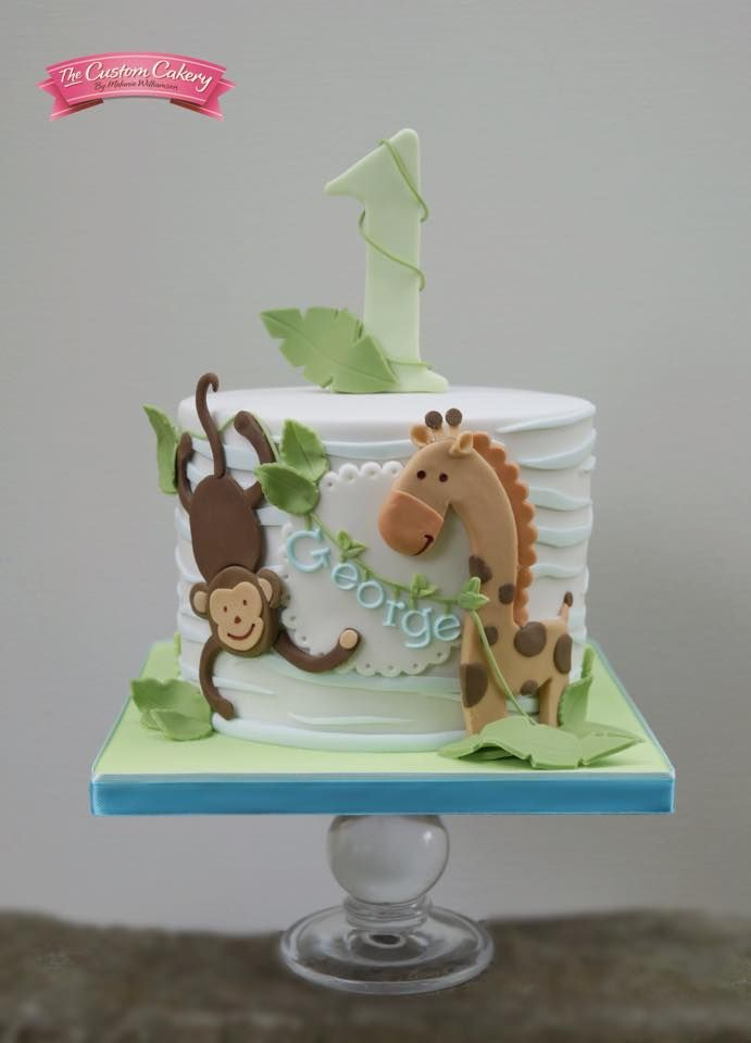 Jungle themed cake for gorgeous George!