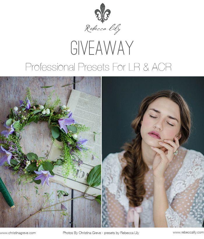 CHRISTINA GREVE - PHOTOGRAPHER AND LIFE COACH | GIVEAWAY! Rebecca Lily Presets Pro III | http://christinagreve.com