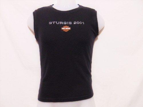 17.95$  Buy here - http://vitdx.justgood.pw/vig/item.php?t=smynbk33330 - HARLEY DAVIDSON Womens Tank Top L/Large Sturgis South Dakota 2001 Sleeveless 17.95$