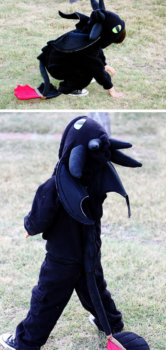 Make a Dragon Costume From a Sweatsuit | Click for 30 DIY Halloween Costumes for Kids to Make | DIY Halloween Costumes for Toddlers
